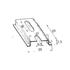 DIN-liist 35x7,5 mm (Passiveeritud)