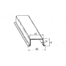 DIN-liist 35x15 mm